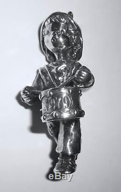 Hallmark Christmas Ornament Vintage Sterling Silver Drummer Boy 1979 England