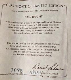 Hallmark Keepsake Ornament Star Bright Sterling Silver 1980