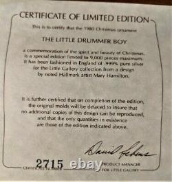 Hallmark Keepsake Ornament The Little Drummer Boy Sterling Silver 1980