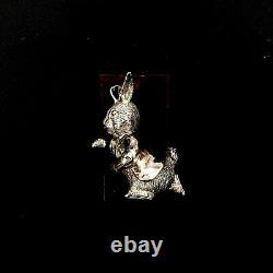 Hand & Hammer H&h Sterling Silver Beatrix Potter Peter Rabbit Christmas Ornament