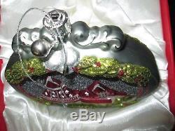 Hotel Del Coronado 2011 Annual Glass Christmas Ornament Silver Bells Collector's