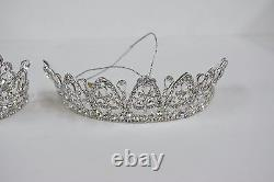 JEWEL TIARA ORNAMENT LOT of 2 Silver Katherine's Collection 28-628263 PRINCESS