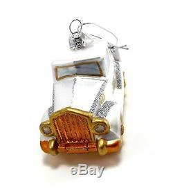 Kurt Adler Noble Gems Just Married Wedding Glass Ornament (Wedding Car)