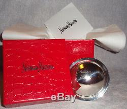 LNC Neiman Marcus 2009 Sterling Silver Saturn Ball Christmas Ornament Decoration