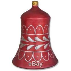 Large Bell Christmas Ornament Outdoor Fiberstone Sculpture Handcrafted USA 31H