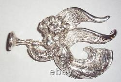 Lincoln Mint Charmers Series 1972 Sterling Silver Angel Xmas Ornament Medallion