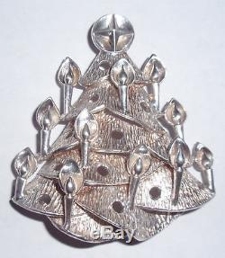 Lincoln Mint Charmers Series 1972 Sterling Silver Xmas Tree Ornament Medallion