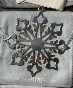Lot Of 10 MMA Sterling Silver Snowflake Ornaments 1981-1990 Metropolitan Museum
