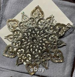Lot Of 10 MMA Sterling Silver Snowflake Ornaments 1991-2000 Metropolitan Museum