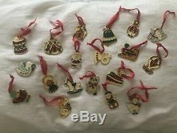 Lot Of 19 Vintage Wallace Cookie Classic Silver Plate Christmas Ornament Pendant