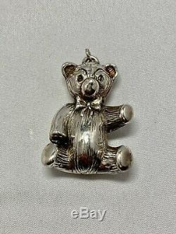 Lot Of 6 Sterling Silver Animal Character Christmas Ornaments / Pendants