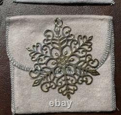Lot Of 9 MMA Sterling Silver Snowflake Ornaments 1972-1980 Metropolitan Museum