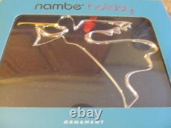 Lot Of 9 Nambe Christmas Ornaments + 1 Mini Reindeer Trio Ornaments New In Box