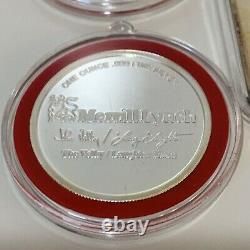 Lot of 5 Merrill Lynch Christmas Ornaments with 4 Troy Ounces Of. 999 Fine Silver