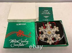 Lot of 6 Gorham Sterling Snowflake Ornaments 1986 1987 1988 1989 1991 1992