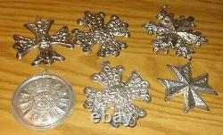 Lot of Sterling Silver Christmas Ornaments Reed Barton Gorham Towle 73 74 75 77+