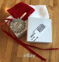 Lunt Sterling Silver Christmas Ornament Sun Santa VERY RARE