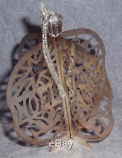 MIB 1977 Gorham 3D Pierced Sterling Silver Noel Ball Xmas Ornament Decoration