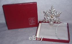 MIB 1982 Gorham Sterling Silver Christmas Snowflake Ornament Pendant Medallion