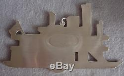 MIB 1985 Gorham American Heritage Sterling Silver Xmas Side Wheeler Ornament HTF