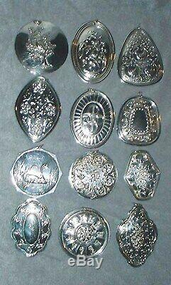 MIB Towle Sterling Silver 12 Days Christmas Complete Ornament Set 19711982 Gift