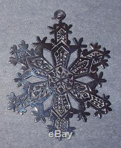 MMA 1971 Snowflake Sterling Silver Christmas Ornament Metropolitan Museum Art