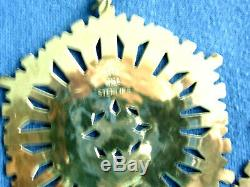 MMA 1972-5-Sterling Silver Snowflake Christmas Ornaments-Special DEEL