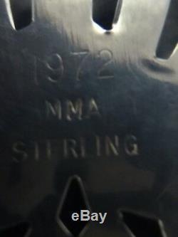 MMA 1972 Snowflake Sterling Silver Christmas Ornament Metropolitan Museum Art