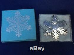 MMA 1973 Snowflake Sterling Silver Christmas Ornament Metropolitan Museum Art