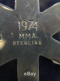 MMA 1974 Snowflake Sterling Silver Christmas Ornament Metropolitan Museum Art