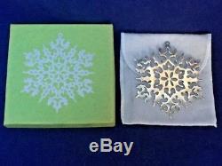 MMA 1975 Snowflake Sterling Silver Christmas Ornament Metropolitan Museum Art