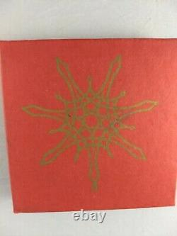 MMA 1975 Sterling Silver Star Christmas Ornament, Unused, Excellent withbag box