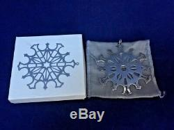 MMA 1978 Snowflake Sterling Silver Christmas Ornament Metropolitan Museum Art