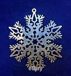 MMA 1979 Snowflake Sterling Silver Christmas Ornament Metropolitan Museum Art