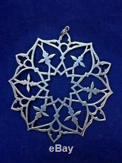MMA 1985 Snowflake Sterling Silver Christmas Ornament Metropolitan Museum Art