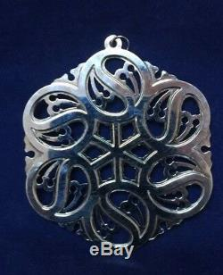 MMA 1988 Snowflake Sterling Silver Christmas Ornament Metropolitan Museum Art