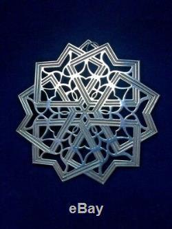 MMA 1992 Snowflake Sterling Silver Christmas Ornament Metropolitan Museum Art