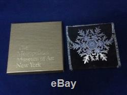 MMA 2006 Snowflake Sterling Silver Christmas Ornament Metropolitan Museum Art