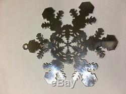 MMA 2007 Snowflake Sterling Silver Christmas Ornament Metropolitan Museum Art