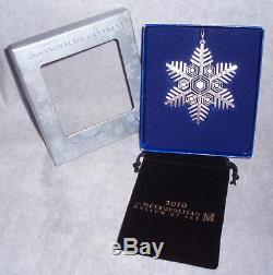 MMA 2010 Snowflake Sterling Silver Christmas Ornament Metropolitan Museum Art