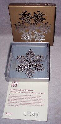 MMA 2017 Snowflake Sterling Silver Christmas Ornament Metropolitan Museum Art