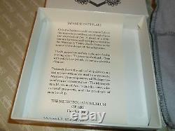 MMA Metropolitan Museum Art Christmas Ornament Sterling 1986 Snowflake Box