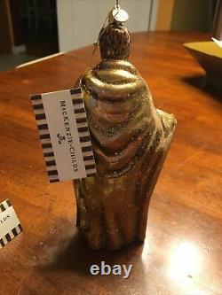 MacKenzie-Childs Glass Holy Family Nativity Silver Lining Christmas Ornament