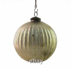 Melon Shape Mercury Glass ball Home Decor Christmas Antique Kugel i23-101 US