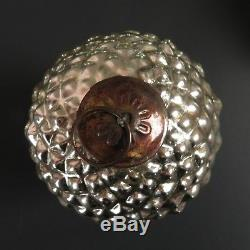 Mercury Glass Acorn Ornament Set Silver Large Nut Pottery Barn
