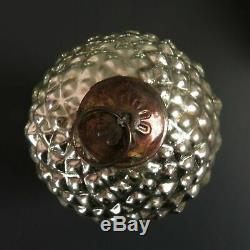 Mercury Glass Acorn Ornament Set Silver Large Nut Pottery Barn