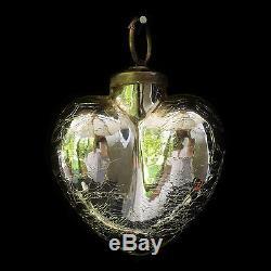 Mercury Glass Silver Christmas Ornaments / Pottery Barn / Set Of 7 Ornaments