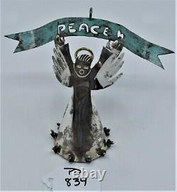 Mexican Sterling Silver Peace Angel Christmas Ornament Pendant Emilia Castillo
