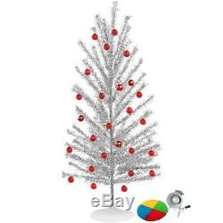 Mid Century Modern-Style Aluminum Christmas Tree with Color Wheel