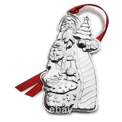 NEW 2018 Wallace 2nd Edition Sterling Silver Classic Santa Ornament Medallion
